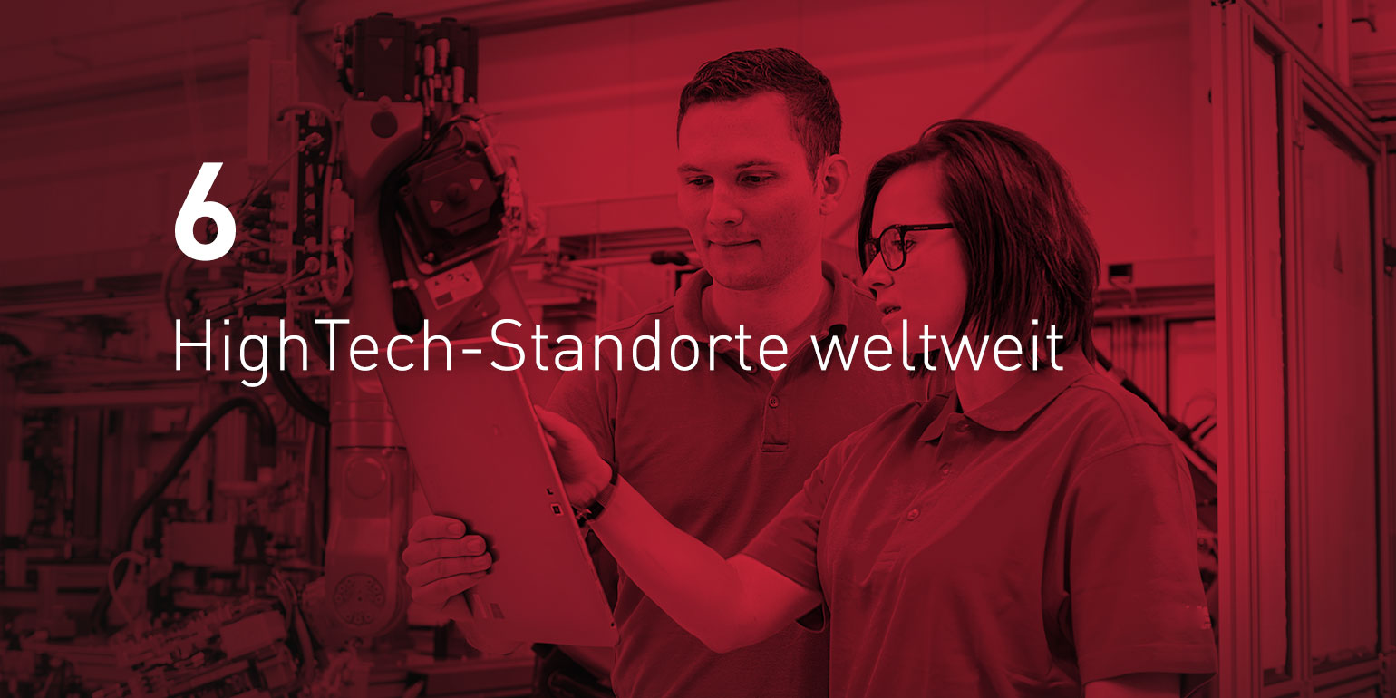 6 HighTech-Standorte